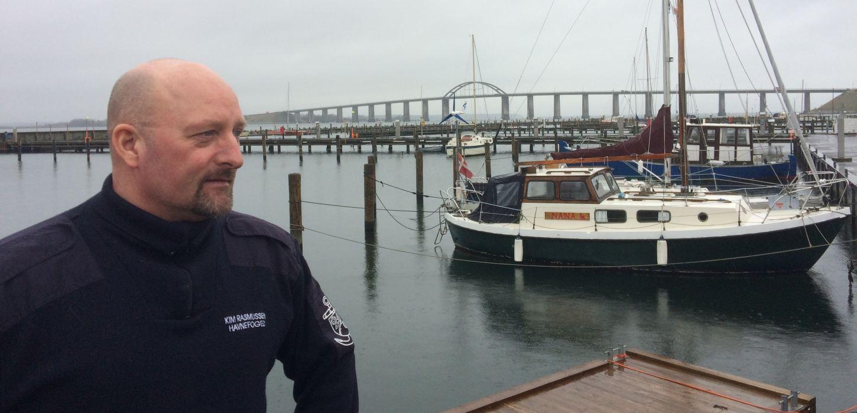 Havnefoged Kim Rasmussen på Skudehavnen